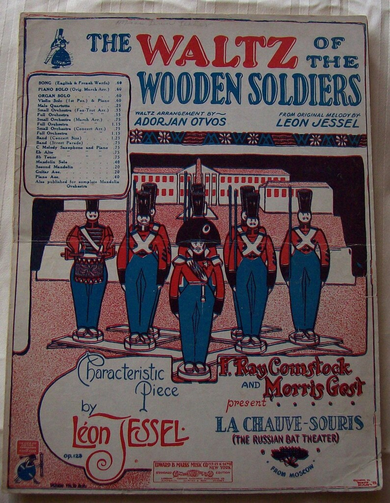 Sheet Music Piano The Waltz Of The Wooden Soldiers Vintage image 0