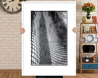 Architecture Photography-Chicago Photograph-Black & White Print-Abstract Architecture-Lake Point Tower-Urban Wall Art-Modern Decor