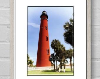 Ponce De Leon Lighthouse-Nautical Wall Art-Coastal Photography-Lighthouse Wall Print-Fine Art Photography-Florida Photography-Vertical Print