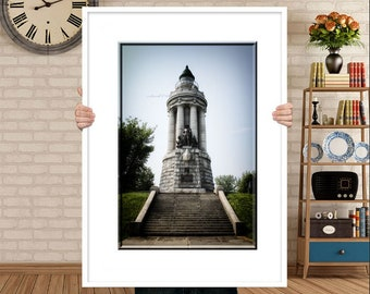 Crown Point Lighthouse-Lighthouse Photography-New York Lighthouse-Fine Art Photography-Vertical Print-Lake Champlain-Statue Photography