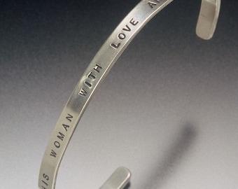 affirmation cuff bracelet, wisdom bracelets, message bracelets