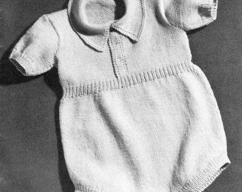 Vintage Baby Onesie Vintage Knit Onesie Newborn Bunting Made in Italy Atkins