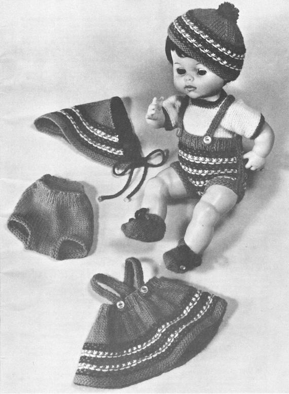 Doll Clothing Knitting Pattern Doll Knitting Pattern Doll Etsy