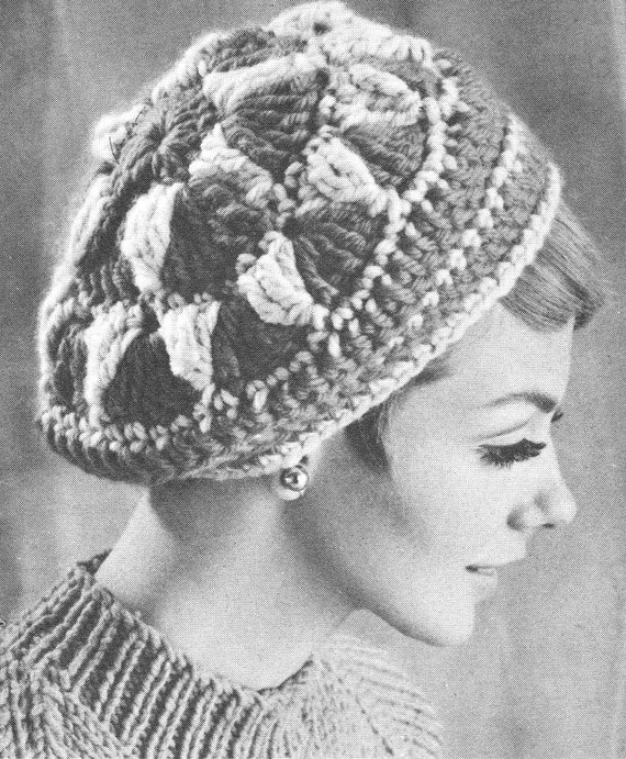Vintage Crochet Pattern Ladies Womens Winter Beret Hat Tam Etsy