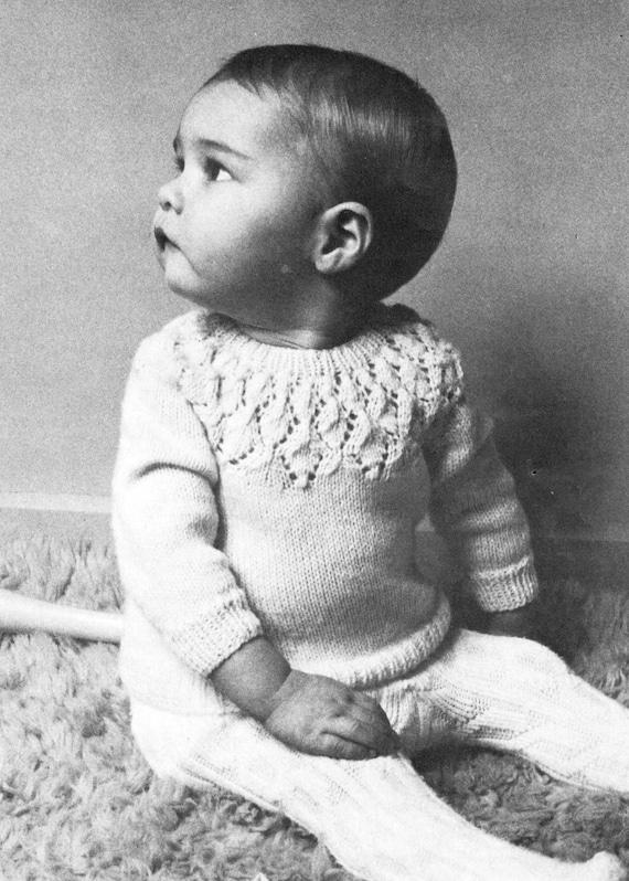 baby cardigan sweater knitting pattern vintage knitting | Etsy