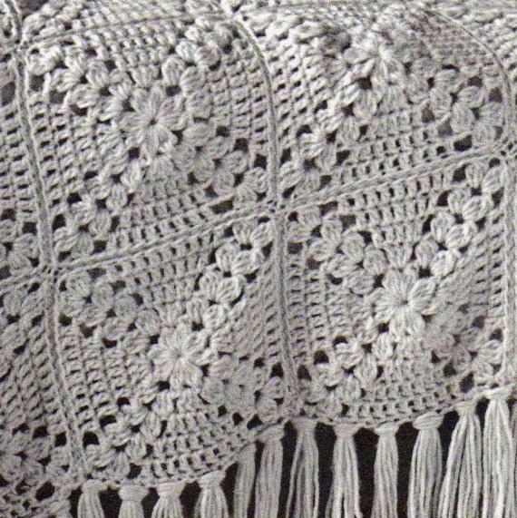 Vintage Granny Square Motif Afghan Crochet Pattern Pdf Instant Etsy