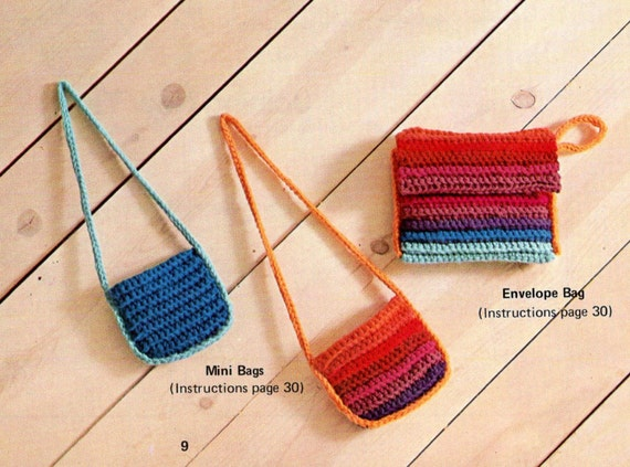 Vintage Crochet Pattern Easy Bags Purse Clutch Envelope Bags Etsy