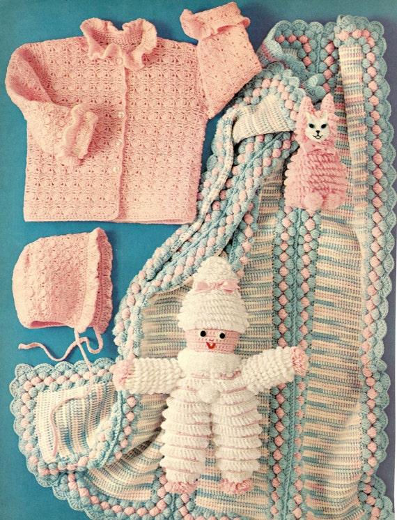 Crochet Pattern Baby Shell Lace Ruffle Cuff Cardigan Sweater Etsy