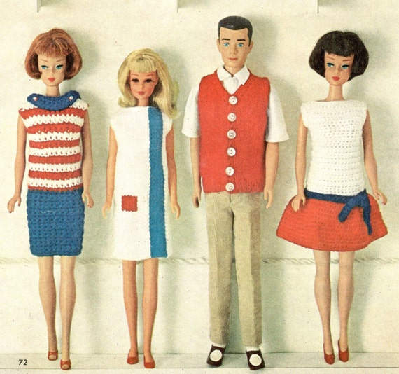Barbie Doll Knitting Pattern Barbie Clothes Skipper Clothes Etsy