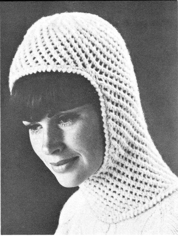 Vintage Knitting Pattern Ladies Womens Winter Hat Balaclava Etsy Mesmerizing Balaclava Knitting Pattern