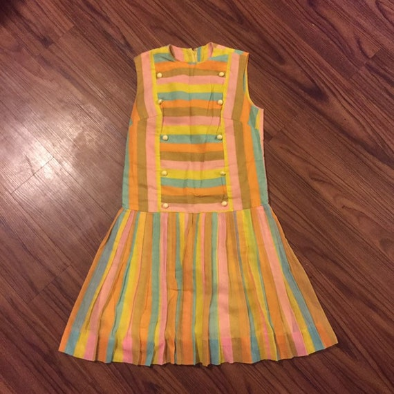 Candy striped vintage dress