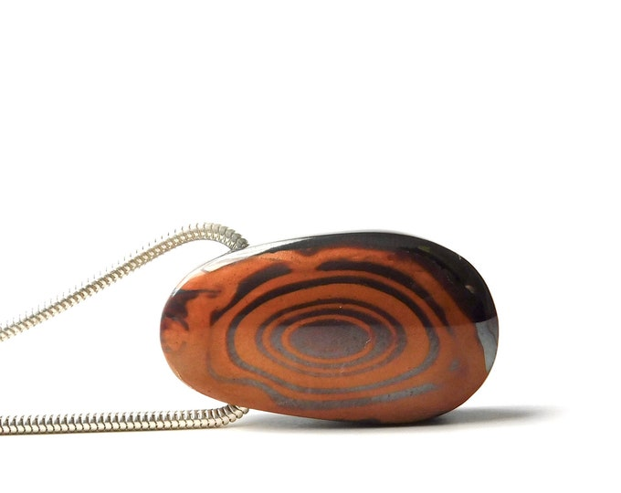 """""""Ulele"""" Tiger Iron Slide Necklace in Sterling"""