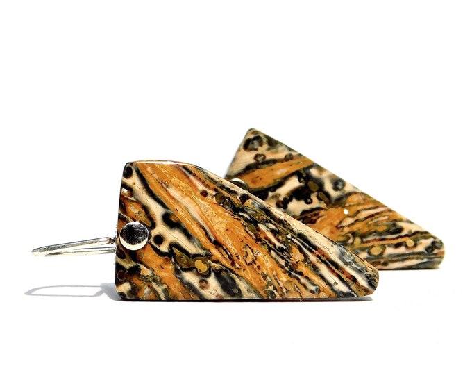 """""""Asha"""" Leopardskin Jasper Earrings"""