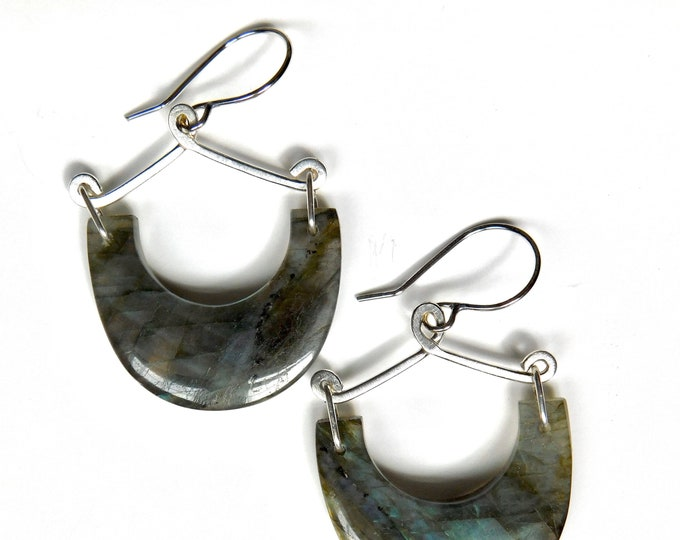 """""""Lena"""" Labradorite Earrings"""