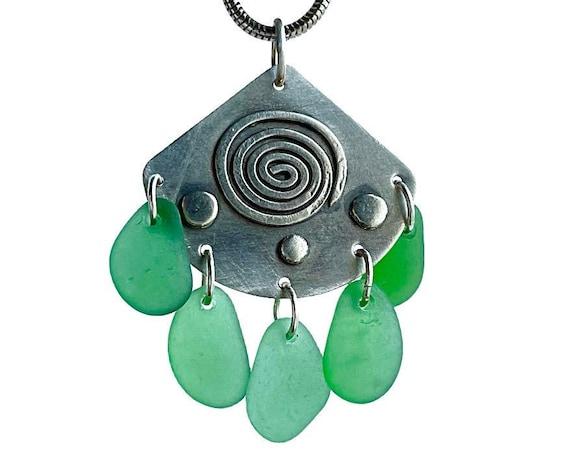 """Linnea"" Beach Glass Necklace"