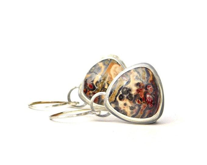 """""""Leopardess"""" Leopardskin Jasper Earrings"""