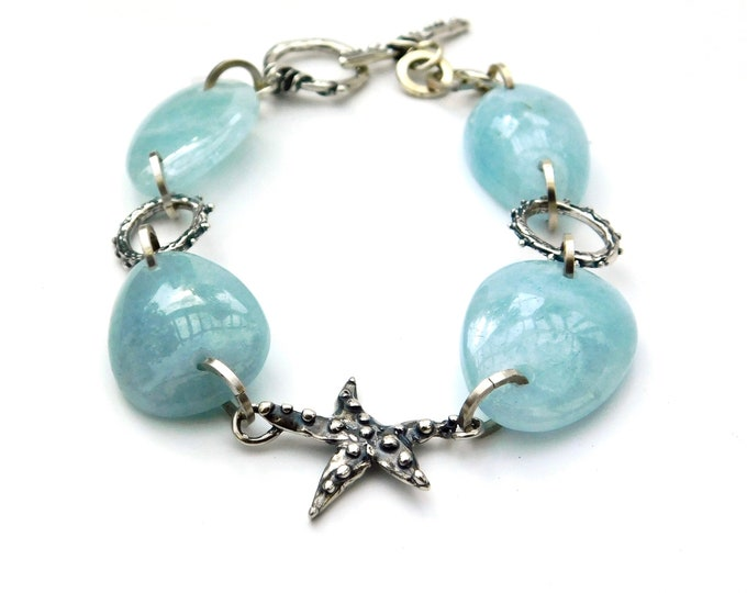 """""""Circe"""" Aquamarine Bracelet"""