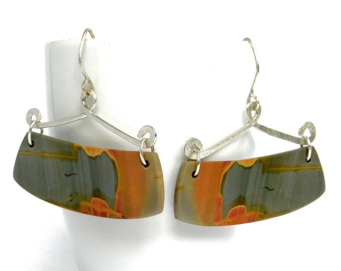 """Leisha"" Jasper Swing Earrings"