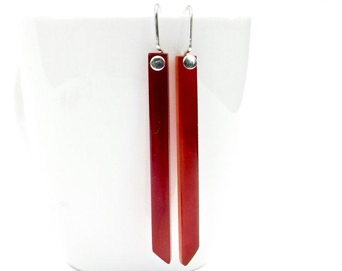 """""""Chili II"""" Red Agate Earrings"""