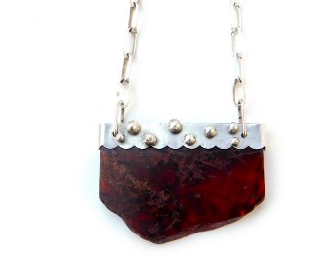 """Hestia"" Garnet Pendant Necklace"