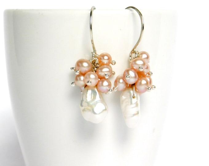 """""""Tia"""" Pearl Earrings"""