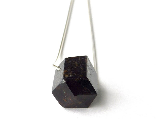 """Hester"" Garnet Slide Necklace"
