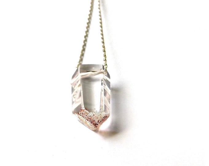 """""""Crystal Peak I"""" Quartz Necklace"""