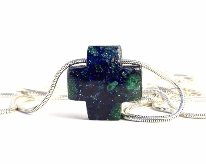 """4 Directions"" Azurite Slide Necklace"