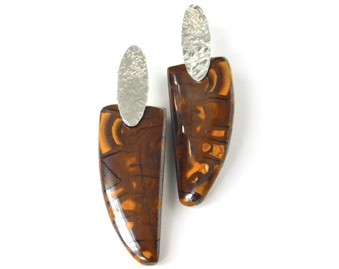 """""""Kaela"""" Boulder Opal Earrings"""