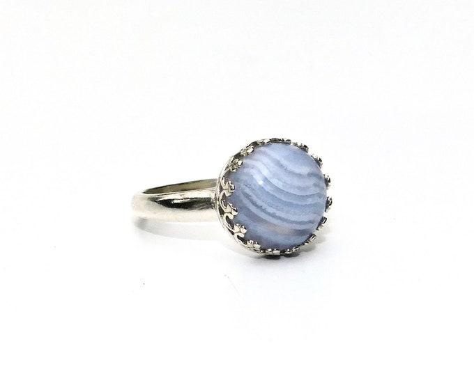 """Cirrus"" Blue Lace Agate Ring"