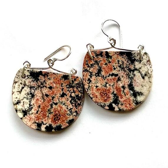 """""""Merlie"""" Snowflake Obsidian Earrings"""