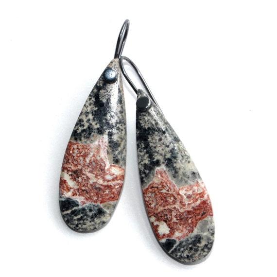 """""""Meryl"""" Obsidian Earrings"""