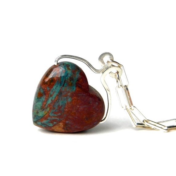 """Obi"" Wood Opal Heart Necklace"