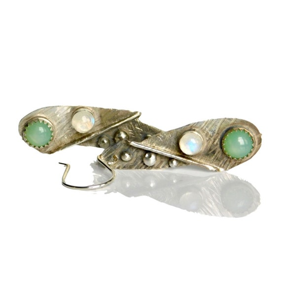 """Octavia"" Moonstone Earrings"