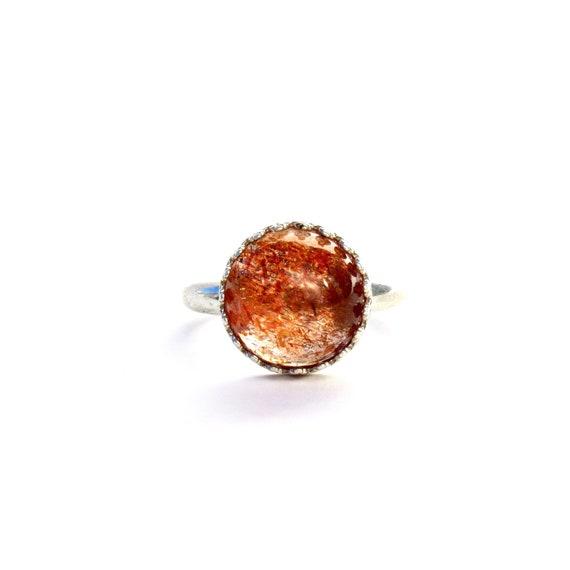 """""""Helia"""" Sunstone Ring"""