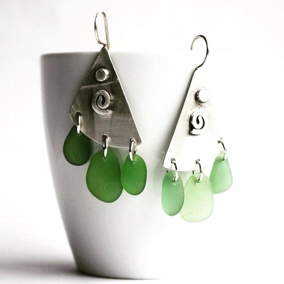 """""""Linnea II"""" Beach Glass Earrings"""