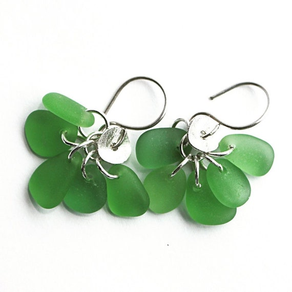"""Linnea I"" Found Beach Glass Earrings"