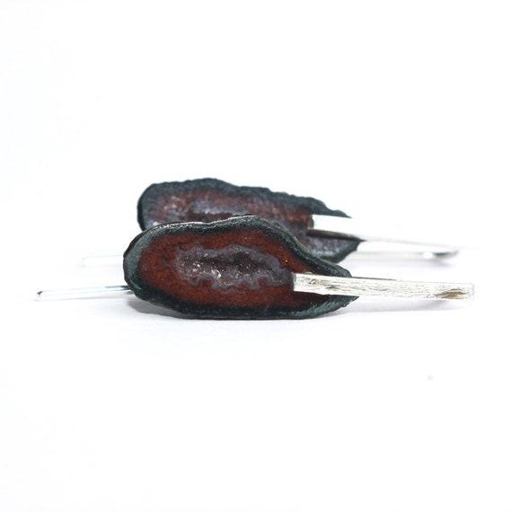 """""""Amalthea"""" Geode Earrings"""