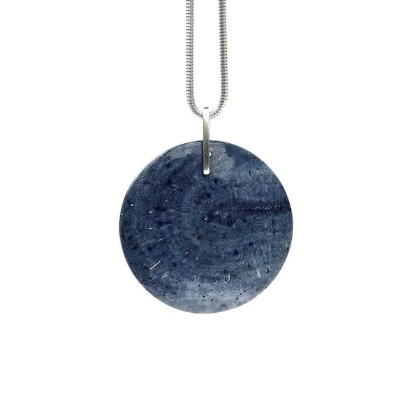"""Jaladri"" Blue Fossil Coral Necklace"