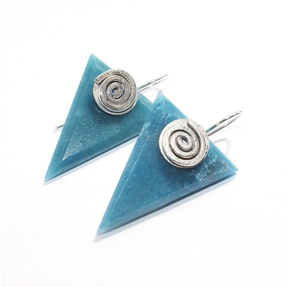 """Adriana"" Blue Quartz Earrings"