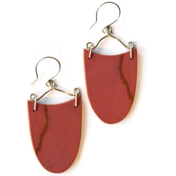 """""""Gouta"""" Red River Jasper Earrings"""