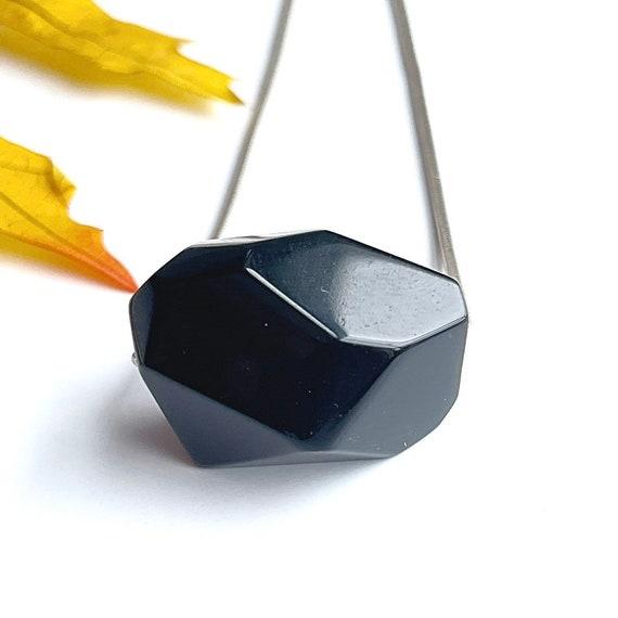 """""""Camilla"""" Obsidian Nugget Necklace"""