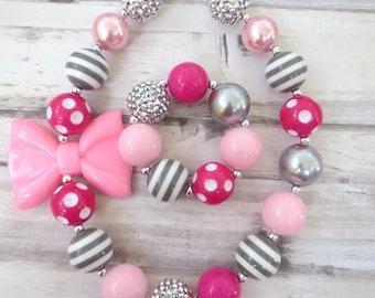 Baby Chunky Necklace, Little Girl Bubblegum Necklace, Children Necklace, Girl Necklace, Girl Bead Necklace, Girl Bracelet
