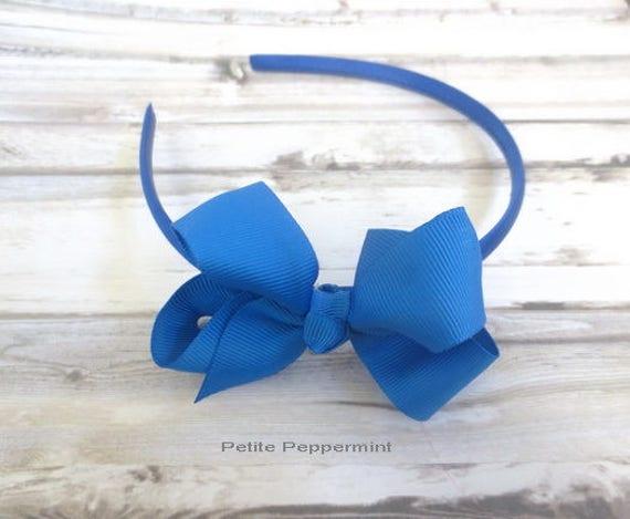 Royal Blue Baby bow headband baby headband royal blue girl  4f2cfa10d16