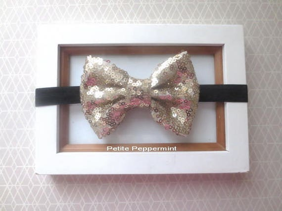 Black and Gold Baby Headband Baby Head Band Baby Hair Bow  23959d32ff1