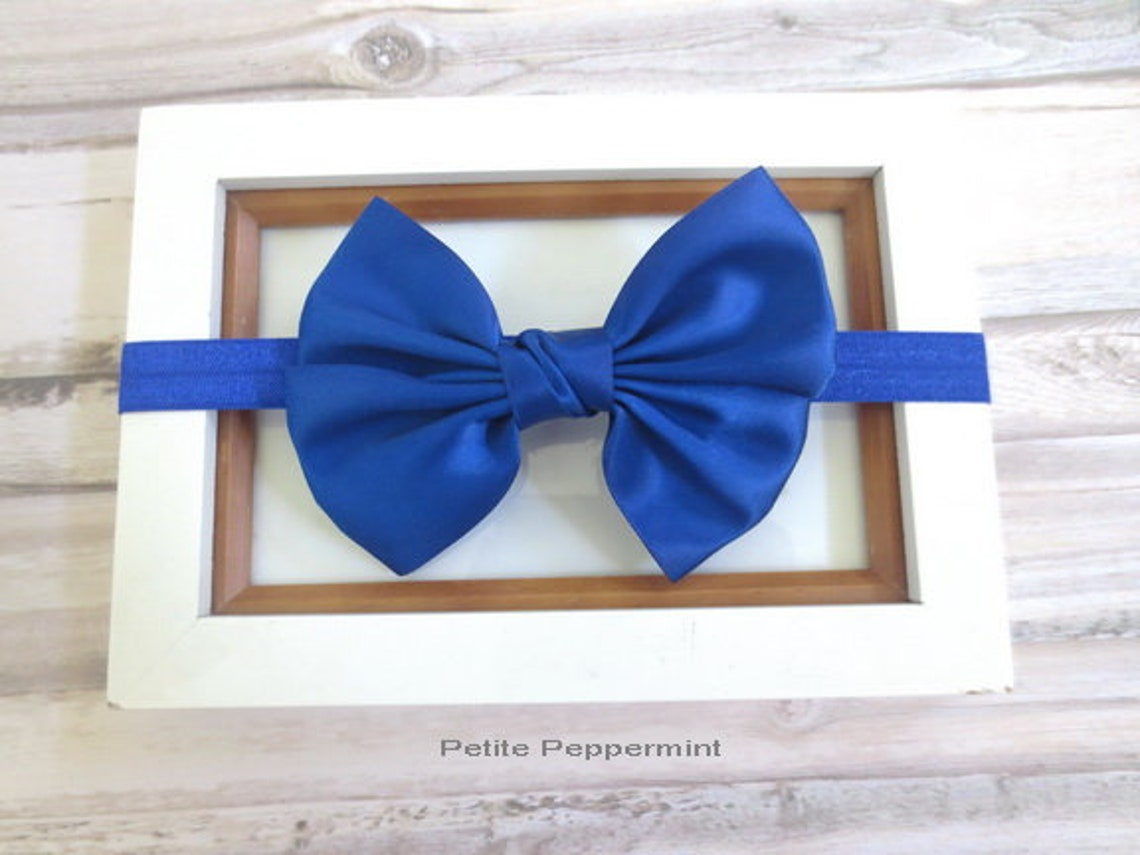 Royal Blue Baby headband Baby Girl Headband Girl hair Bow  35a4e7b3ad5