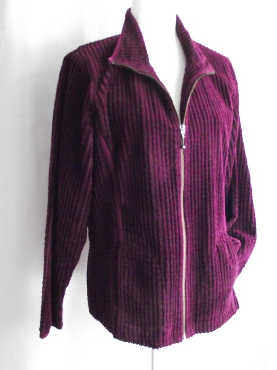 Woolrich Plum Purple/Blackberry Corduroy Jacket Sz