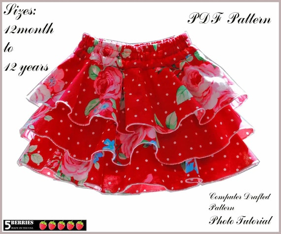 Emma Twirl Girls Skirt Pattern + Free Mother-Daughter Apron Pattern ...