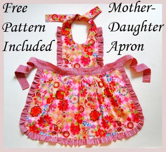 Roses Diaper Cover Pattern Free Mother Daughter Apron Etsy