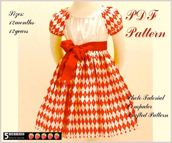 Olivia Peasant Dress Pattern Free Mother Daughter Apron Etsy
